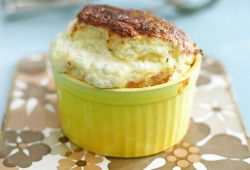 Stoneground Grits and Herb Goat's Cheese Souffle'