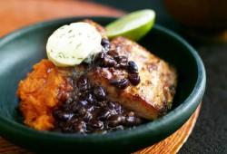 Cuban Mahi Mahi with Black Bean Sauce and Cilantro Compound Butter