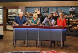 Guy's Grocery Games Judging Table with Catherine, Melissa and Guid